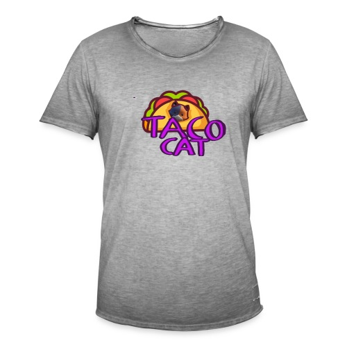 TACO CAT - Vintage-T-shirt herr