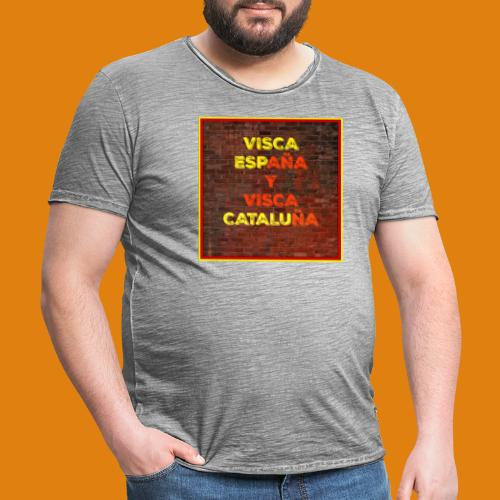 SPAIN AND CATALONIA - Men's Vintage T-Shirt
