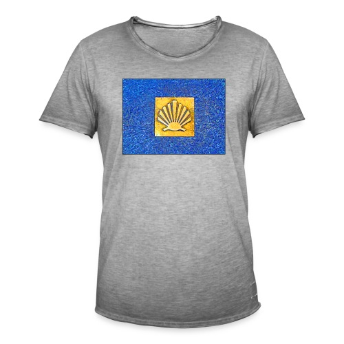 Scallop Shell Camino de Santiago - Men's Vintage T-Shirt