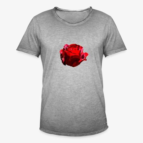 Red Rose - Männer Vintage T-Shirt