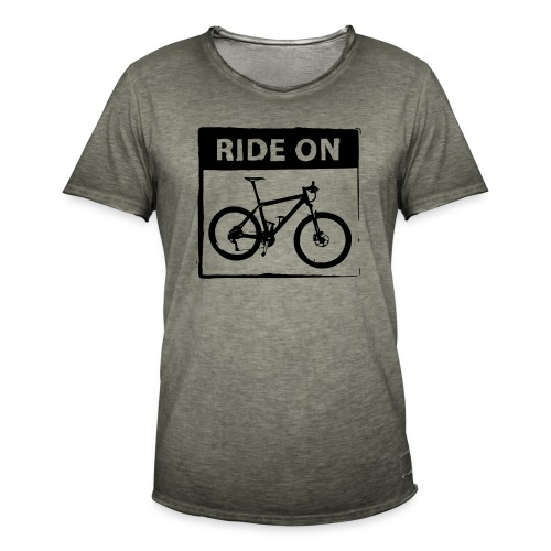 Ride On MTB 1 Color - Männer Vintage T-Shirt