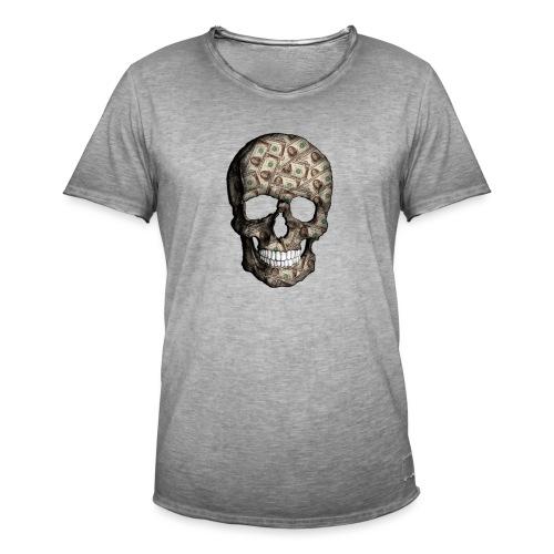 Skull Money - Camiseta vintage hombre
