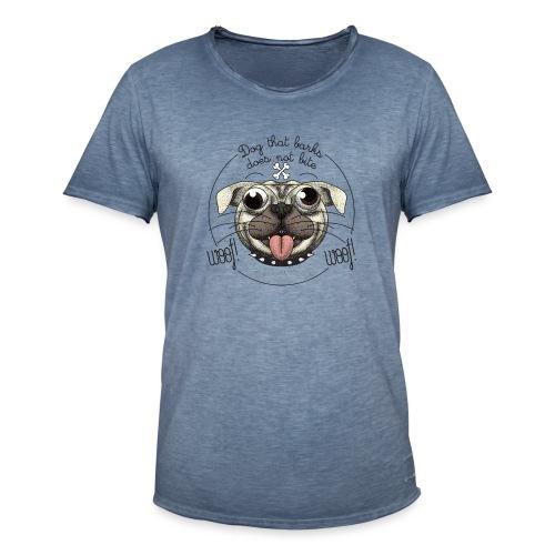 Dog that barks does not bite - Maglietta vintage da uomo