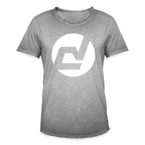 logo blanc - T-shirt vintage Homme