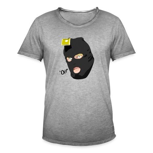 BLACK_CONDOM_SHIRT_PIC_1 - Vintage-T-skjorte for menn