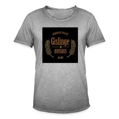 Sort logo 2017 - Herre vintage T-shirt