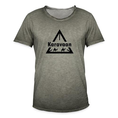 Karavaan Black (High Res) - Mannen Vintage T-shirt