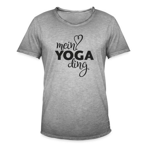Mein Yogading schwarz - Männer Vintage T-Shirt