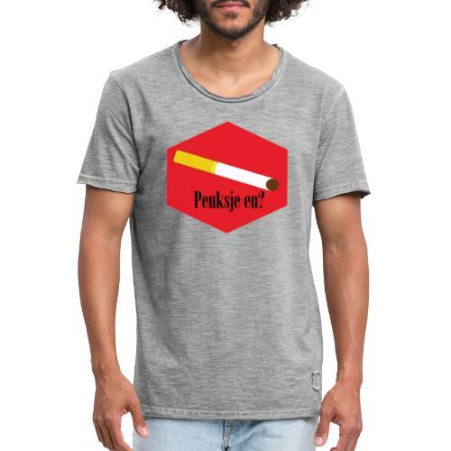 Peuksje en? - Mannen Vintage T-shirt