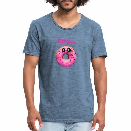donut eat me - Men's Vintage T-Shirt