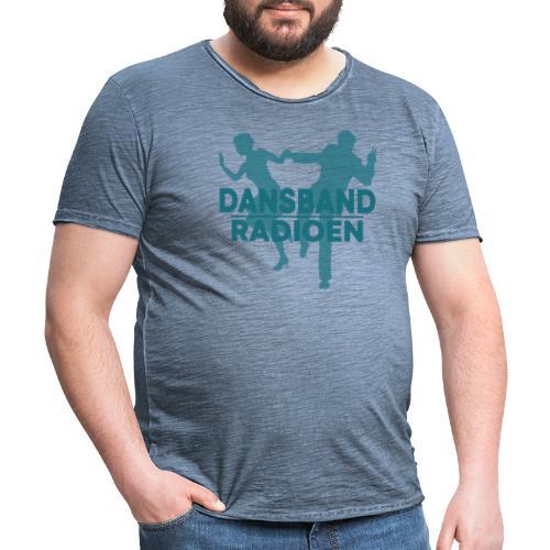 Grønn Logo - Vintage-T-skjorte for menn