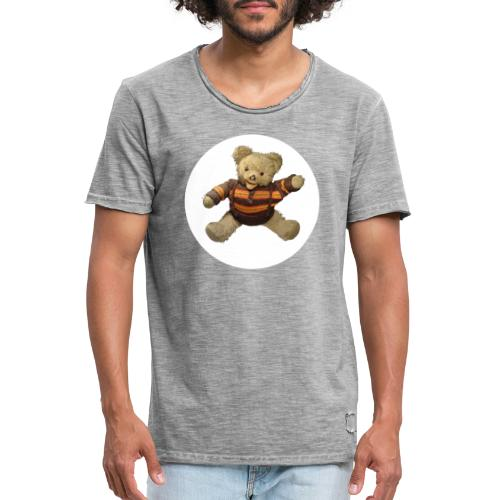 Teddybär - orange braun - Retro Vintage - Bär - Männer Vintage T-Shirt