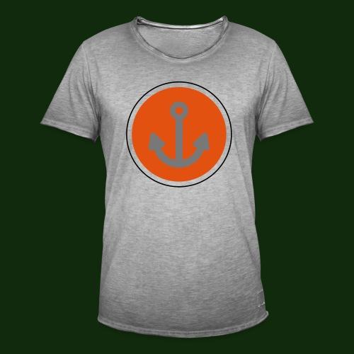 Anker Button - Männer Vintage T-Shirt