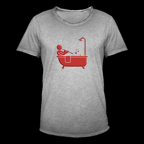 Badewannen Oboist - Männer Vintage T-Shirt
