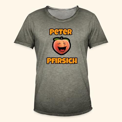 Peter Pfirsich - Männer Vintage T-Shirt