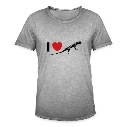 I ❤️ Echse - Männer Vintage T-Shirt