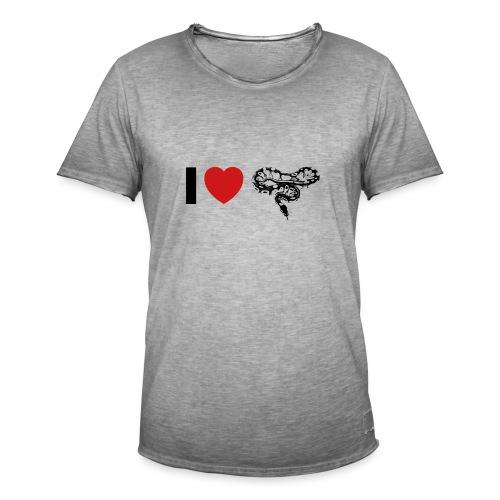 I ❤️ Schlange - Männer Vintage T-Shirt