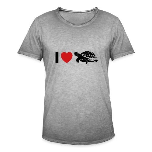 I ❤️ Schildkröte - Männer Vintage T-Shirt