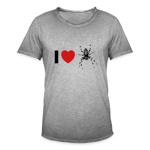 I ❤️ Kreuzspinne - Männer Vintage T-Shirt