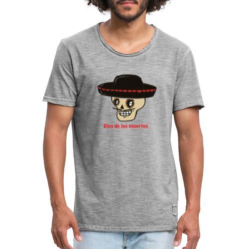 Dios De Los Muertos - Mannen Vintage T-shirt