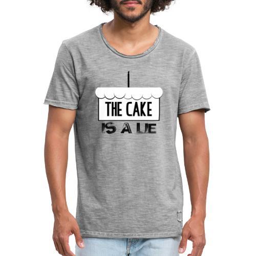 Der Kuchen ist eine Lüge - Männer Vintage T-Shirt