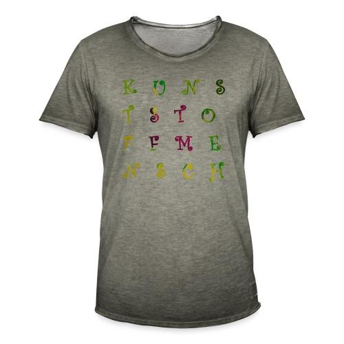 KunstStoffMensch #3 - Männer Vintage T-Shirt