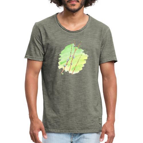 Weidenkätzchen - Männer Vintage T-Shirt