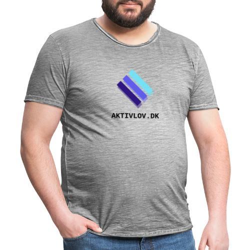 logo Aktiv transparent - Herre vintage T-shirt