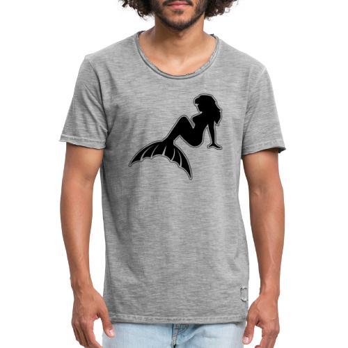 Classic Mermaid NoCircle - Men's Vintage T-Shirt
