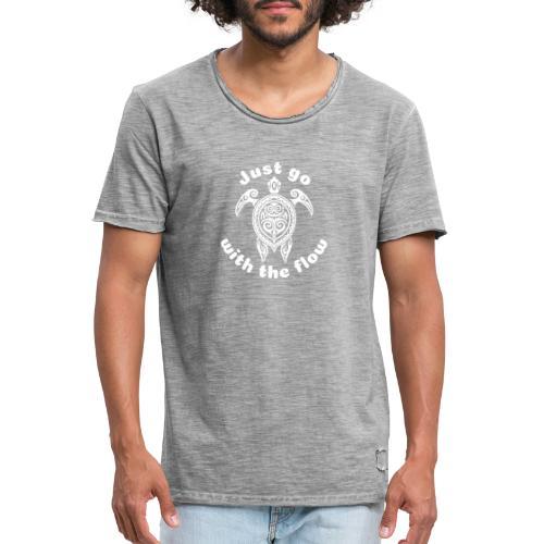Hawaii Schildkröten-Tribal - Just go with the flow - Männer Vintage T-Shirt