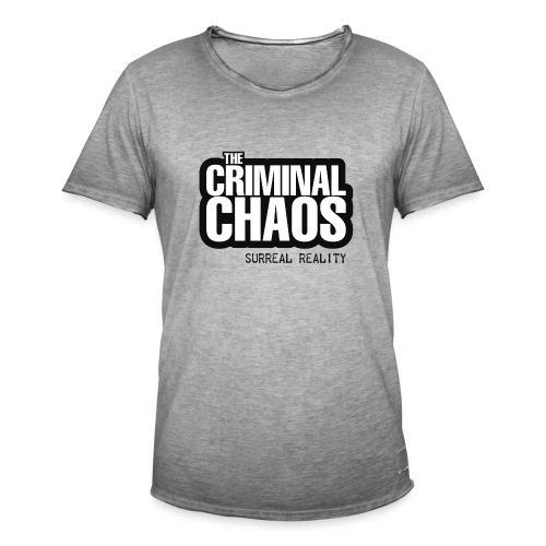 THE CRIMINAL CHAOS - Logo 2020 - SURREAL REALITY - Maglietta vintage da uomo