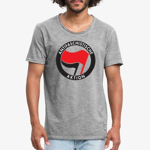 Atnifaschistische Action - Antifa Logo - Men's Vintage T-Shirt