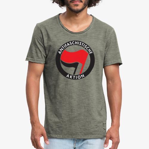 Atnifaschistische Action - Antifa Logo - Men's Vintage T-Shirt