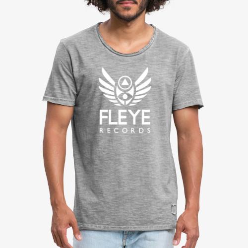 Fleye Records (White Logo Design) Tøj m.m. - Herre vintage T-shirt