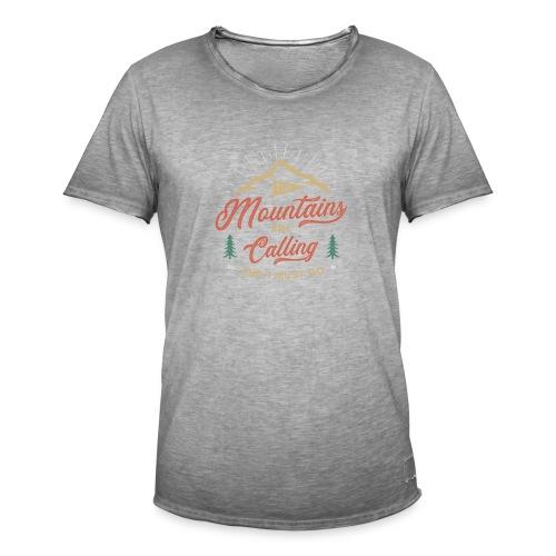 Mountains Are Calling - Maglietta vintage da uomo