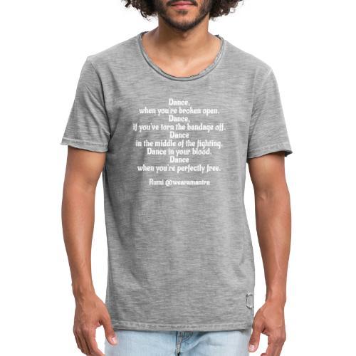 Rumi Dance - Maglietta vintage da uomo