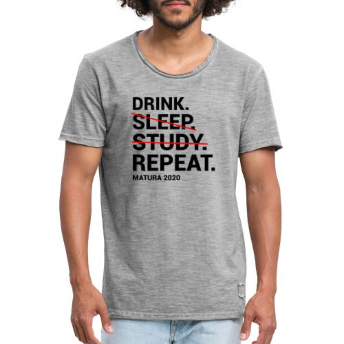 Drink. Sleep. Study. Repeat. Matura 2020 - Männer Vintage T-Shirt