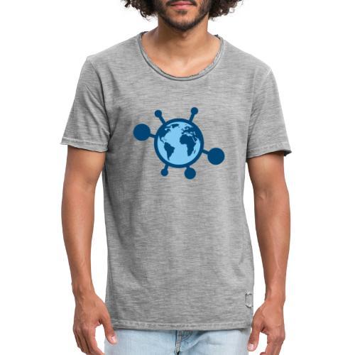 Mundo Covid-19 - Camiseta vintage hombre