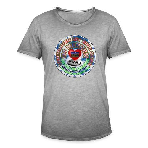 Oase im Herzen - Männer Vintage T-Shirt