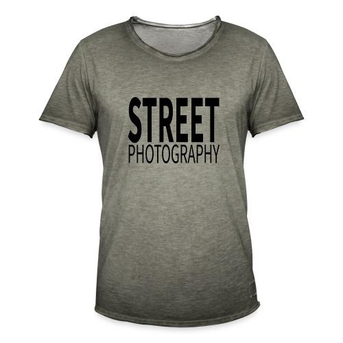 Street photography Black - Maglietta vintage da uomo