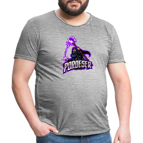 Logo Mascot+Textblock - Männer Vintage T-Shirt