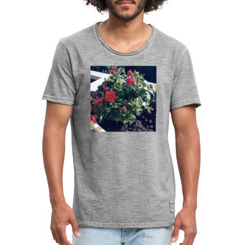 Blumen Foto - Männer Vintage T-Shirt