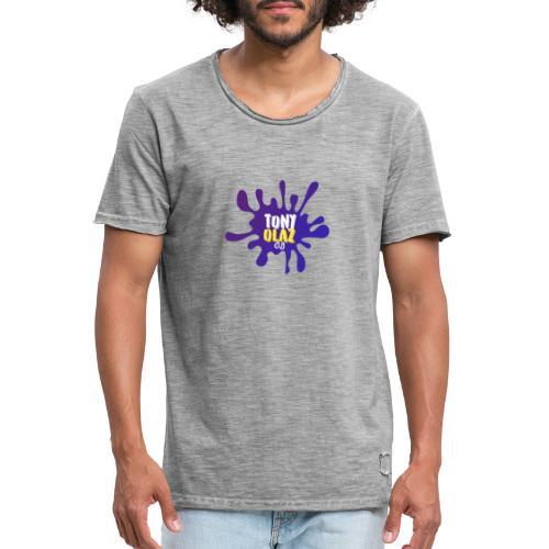 Splash morado - Camiseta vintage hombre