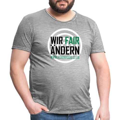 Fairändern mit Zielscheibe - Männer Vintage T-Shirt