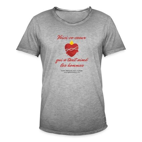 Voici ce coeur - T-shirt vintage Homme