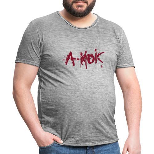 A-MOK Splash Logo Rot - Männer Vintage T-Shirt