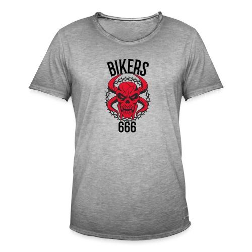 biker devil - T-shirt vintage Homme