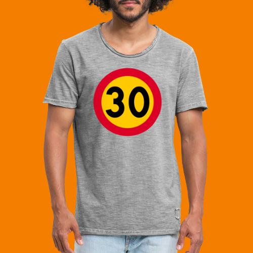30 skylt - Vintage-T-shirt herr