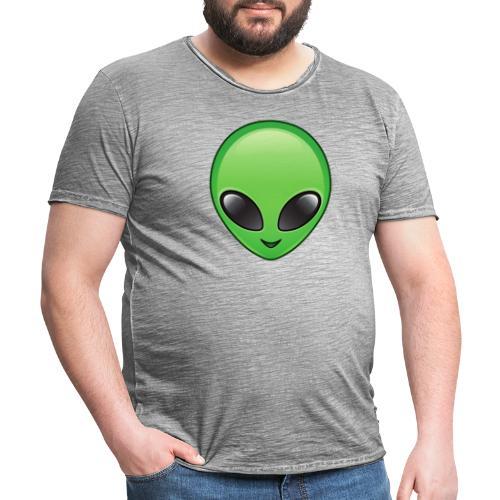 Alien face - Vintage-T-shirt herr