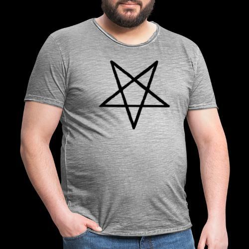 Pentagram2 png - Männer Vintage T-Shirt